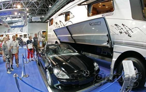 Carry Your Fave Car In Your Fave Luxury Caravan
