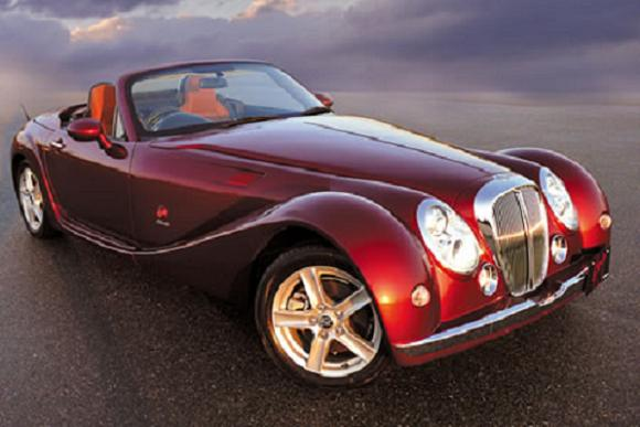 Himiko Apes the Morgan Roadster, Courtesy Mitsuoka Motors