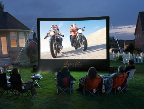 outdoor screen Open Air Cinema Launches $1,000 Projection Screen