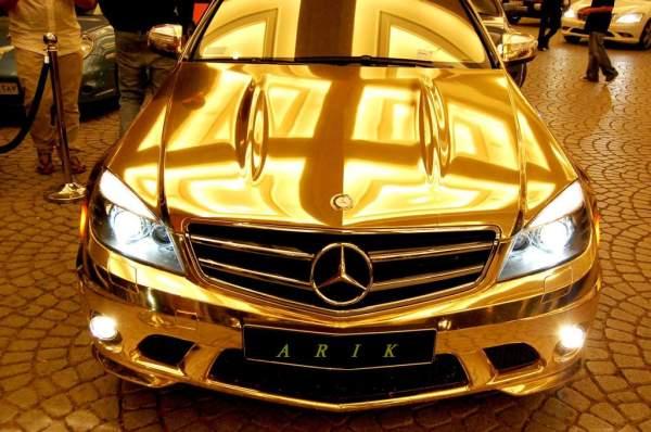 mercedes-c63-gold