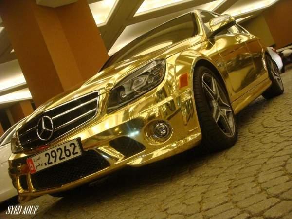 mercedes_c63_gold