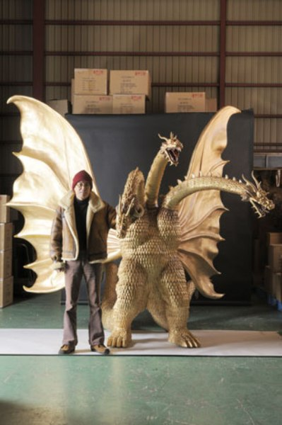 $23,000 Hand-Carved Wooden King Ghidorah Figure Up For Sale