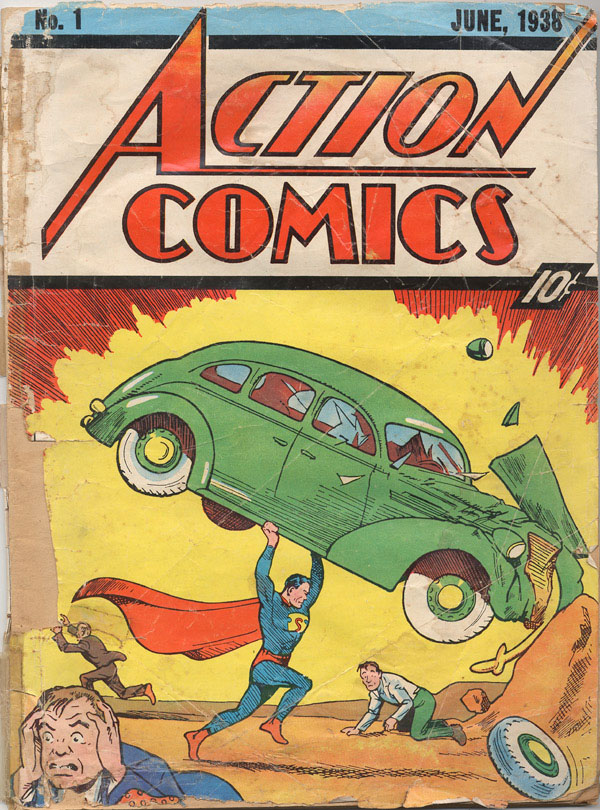 action comics 1 superman Worlds First Super Man Comic Up for Auction