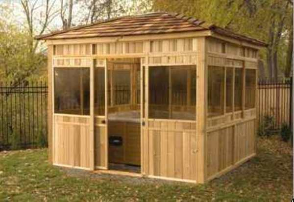 Cedar Spa Enclosure