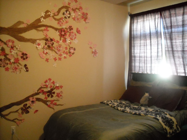 Jenna ruth designs beautiful murals elite choice for Cherry blossom mural on walls
