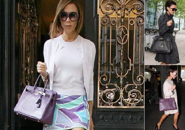 Victoria Beckham Hermes Birkin Bag.  Виктория Бекхэм Гермес Биркин сумка.