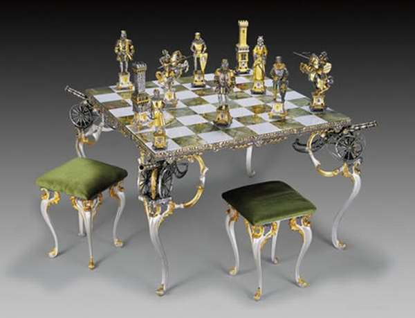 Golden Gothic Chess Board For The Decadent Elite Choice