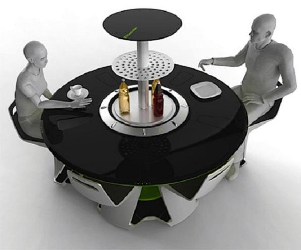 Petr kubik and his dining table of the future elite choice - Table basse high tech ...
