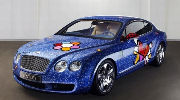 britto bentley web Romero Britto Gives the Bentley a Pop Art Touch