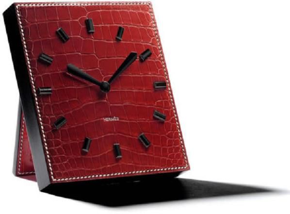 hermes-leather-table-clock