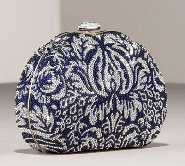leiber damask clutch