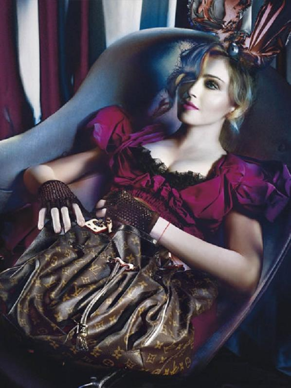 madonna louis vuitton 2 thumb 450x600 Madonna Becomes A Sexy Seductress For Marc Jacobs LV Feat