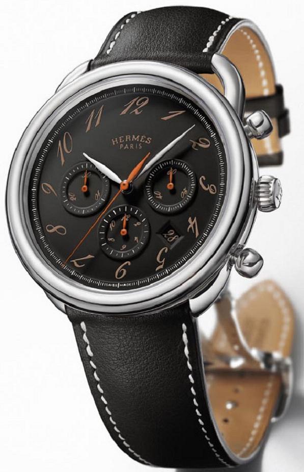 hermes-arceau-ebony-chronograph