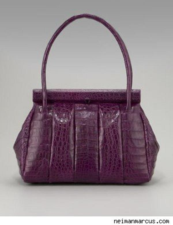 soft croc quilted satchel