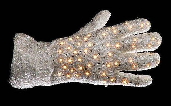 MJ gloves MJ's White Crystal Glove Sells for $ 70,144