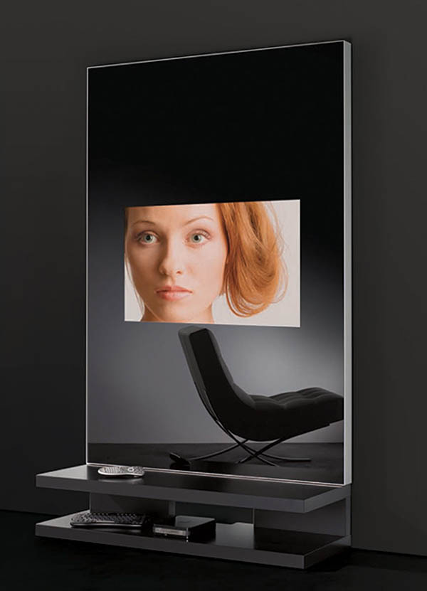 AdNotam Glass TV : Mirror Wall Unit