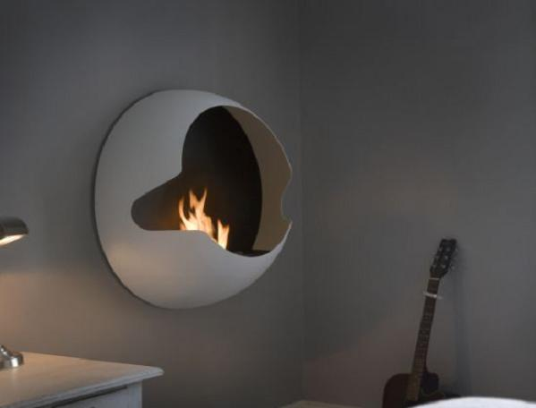 vauni cupola fireplace 2 Meet The Only Spherical Wall Mounted Fireplace In The World, Cupola
