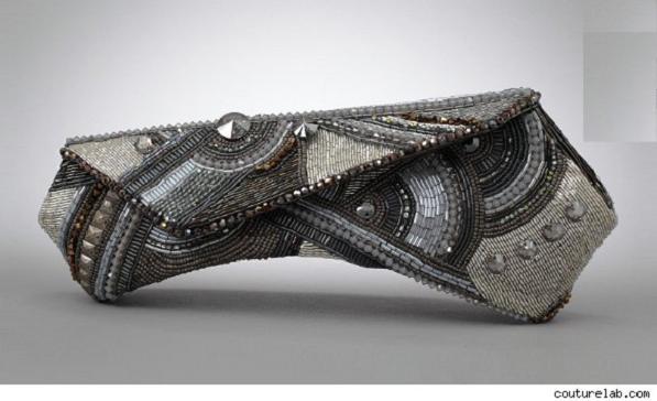 gray gio evening bag