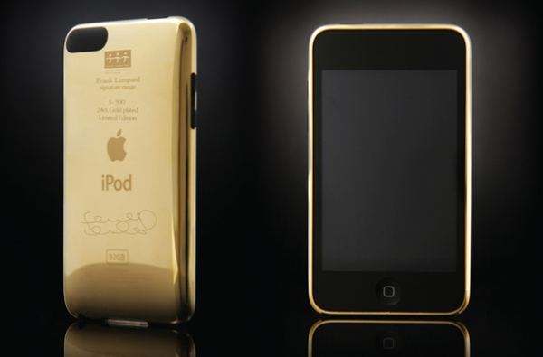 gold ipod Frank Lampard Signature Gold iPod Touch: Spend In Support Of Cancer Victims