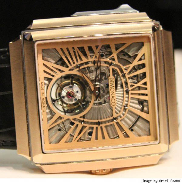 Ateliers DeMonaco Carre d'Or Squelette Tourbillon Minute Repeater watch