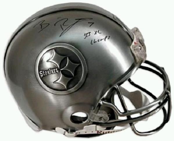 ben-roethlisberger-autographed-pewter-helmet