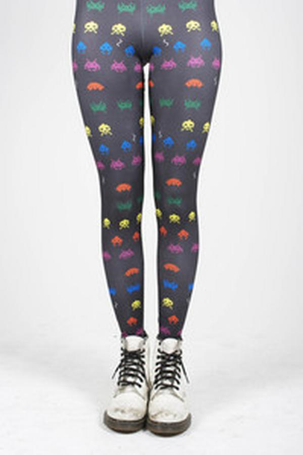 space invaders tights 1 Space Invaders Tights Great for Geeky Women