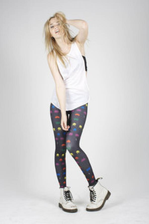 space invaders tights