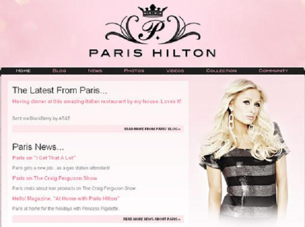 Paris-Hilton website