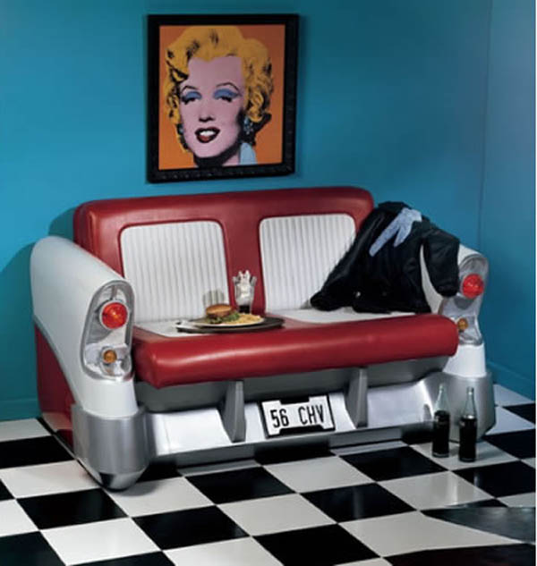 Retro Car Seat Sofa1 Retro Sofa is Inspired by Car Seats of Yesteryears