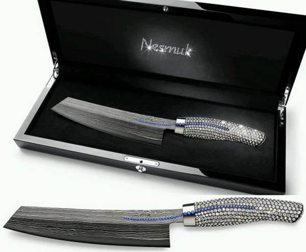 nesmuk swarovski crystal knife