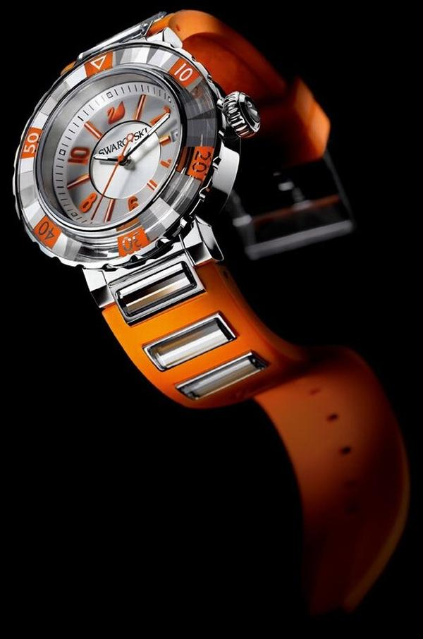 octea orange sports watch