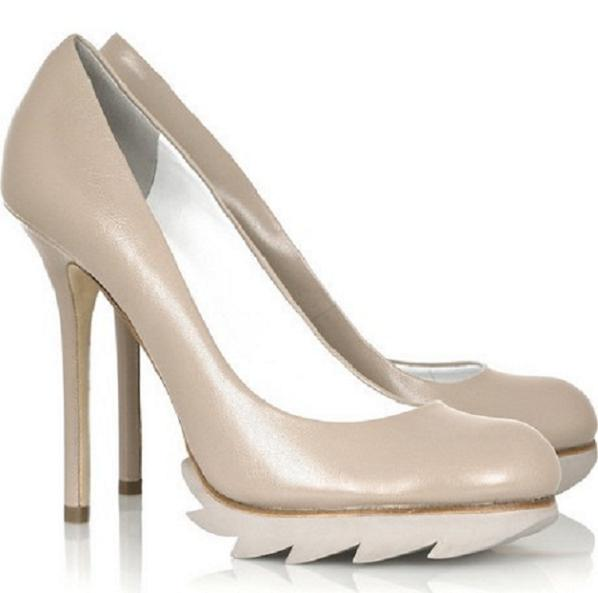 camilla skovgaard Camilla Skovgaards Edgy Take On Neutral Pumps