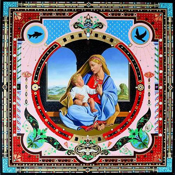madonna with child landscape