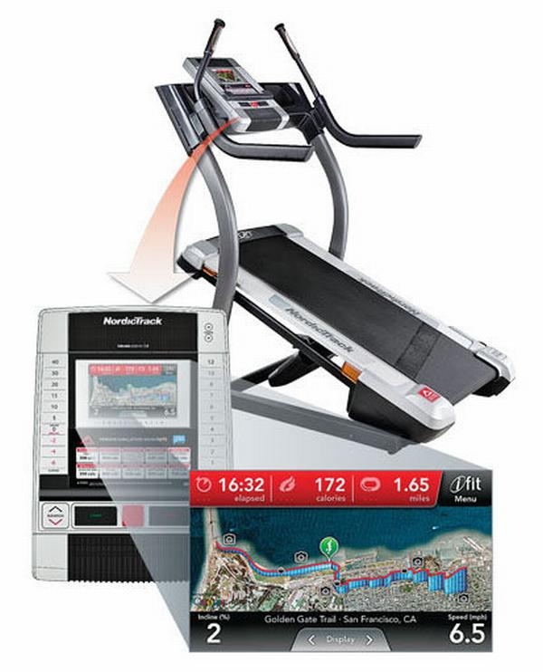 map treadmill Nordic X7i Incline Trainer: Hike In the Comfort of Your Room!