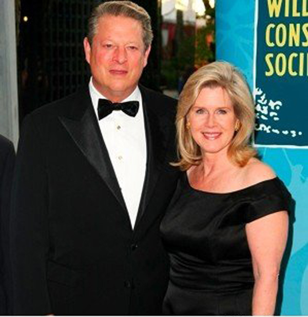 Al Gore with wife Tipper