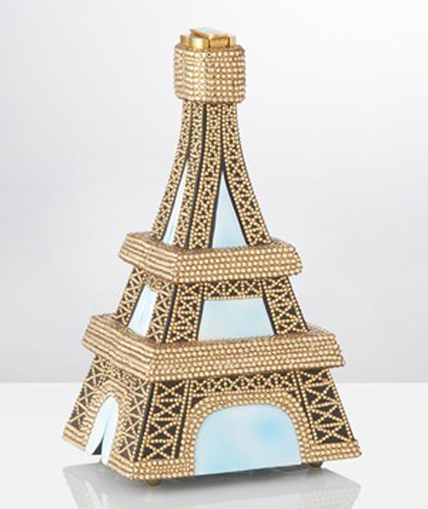 Timmy Woods Eiffel Tower crystal clutch