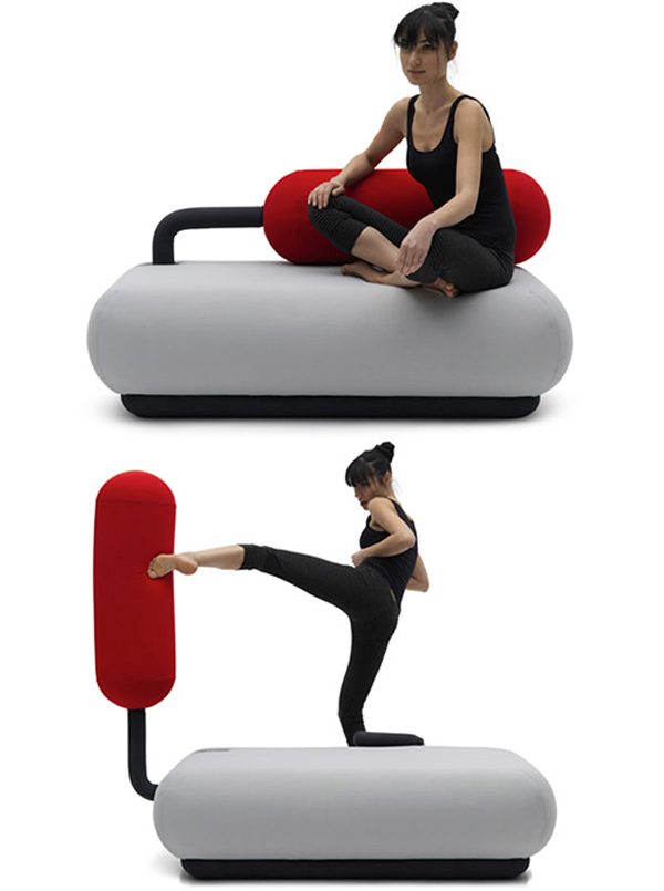 champ sofa2 A couch that transforms into a punching bag!
