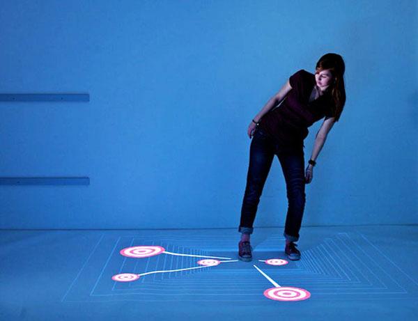 Multitoe: multi touch, floor display