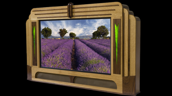 Halden Caviglia showcases for flat screen TVs