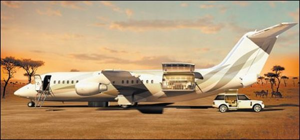 avro business jet with air deck