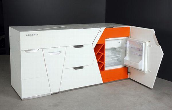 Мебель трансформер для кухни - возможно, самое компактное решение, а главное - все очень функционально