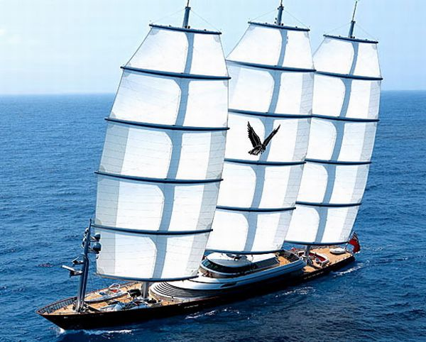 Maltese Falcon: the superyacht is now owned by Uk's highest