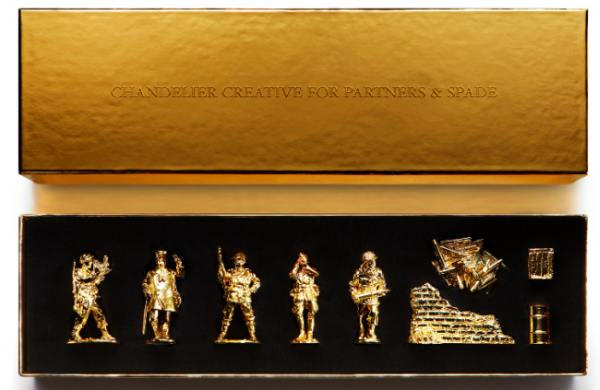 24karat gold toy soldier set