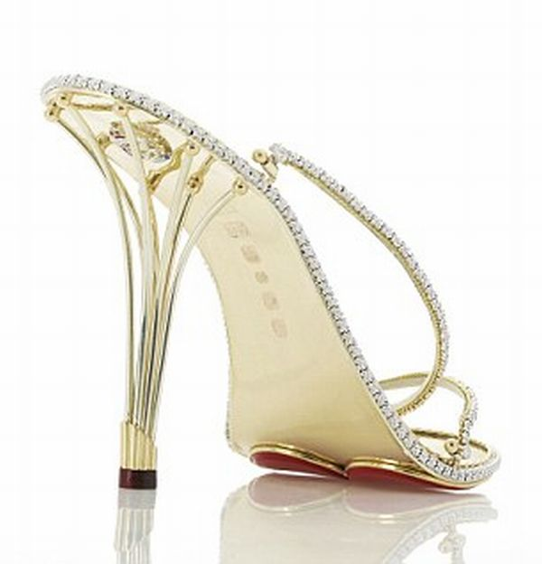 gold and diamond  stilettos