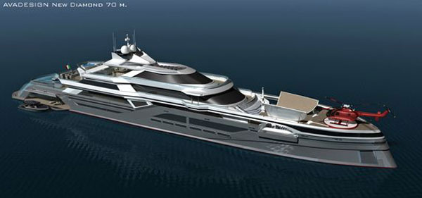 new diamond The Green Diamond: Avadesign's Luxury Yacht For the Nautical Crew