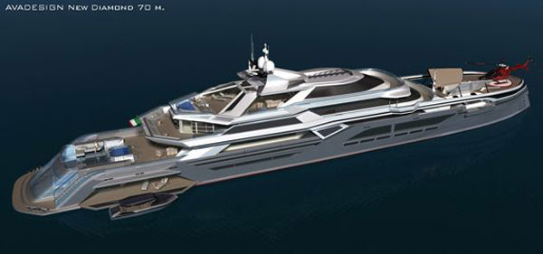 new diamond1 The Green Diamond: Avadesign's Luxury Yacht For the Nautical Crew