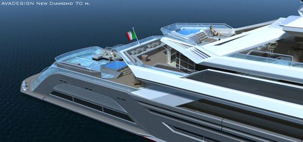 new diamond2 The Green Diamond: Avadesign's Luxury Yacht For the Nautical Crew