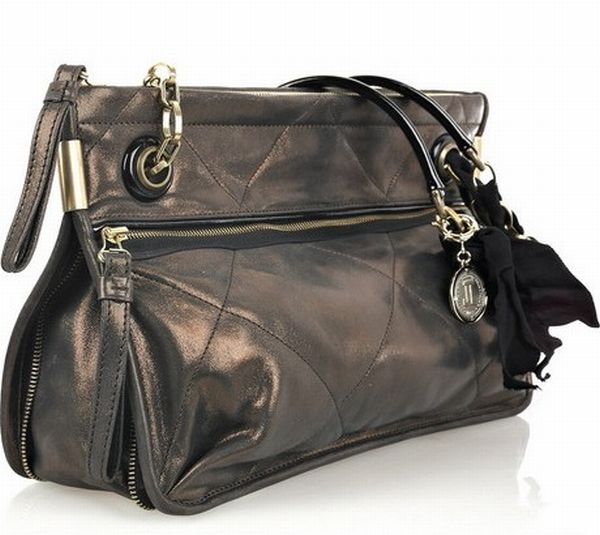 Lanvin Amalia Medium Metallic Leather Bag