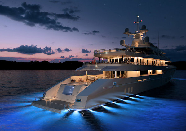 red square yacht