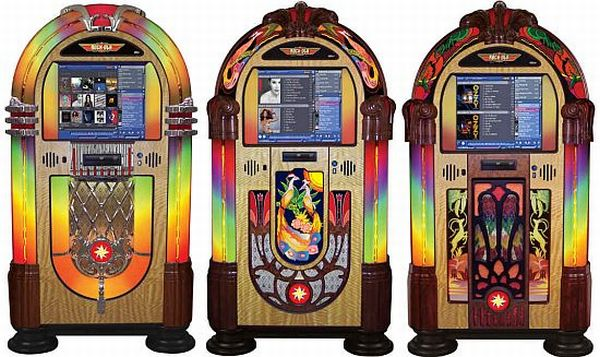 rock ola series iv touchscreen music center jukebox hok1f 48 The latest jukebox by Rock Ola could be a great addition to your home
